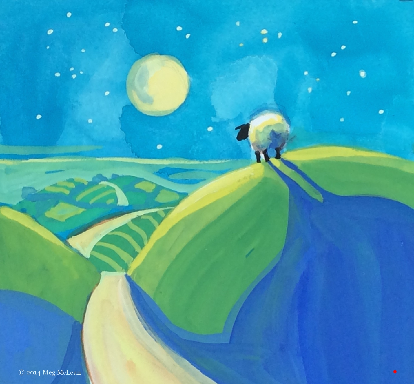 Meg McLean the hills are alive sheep