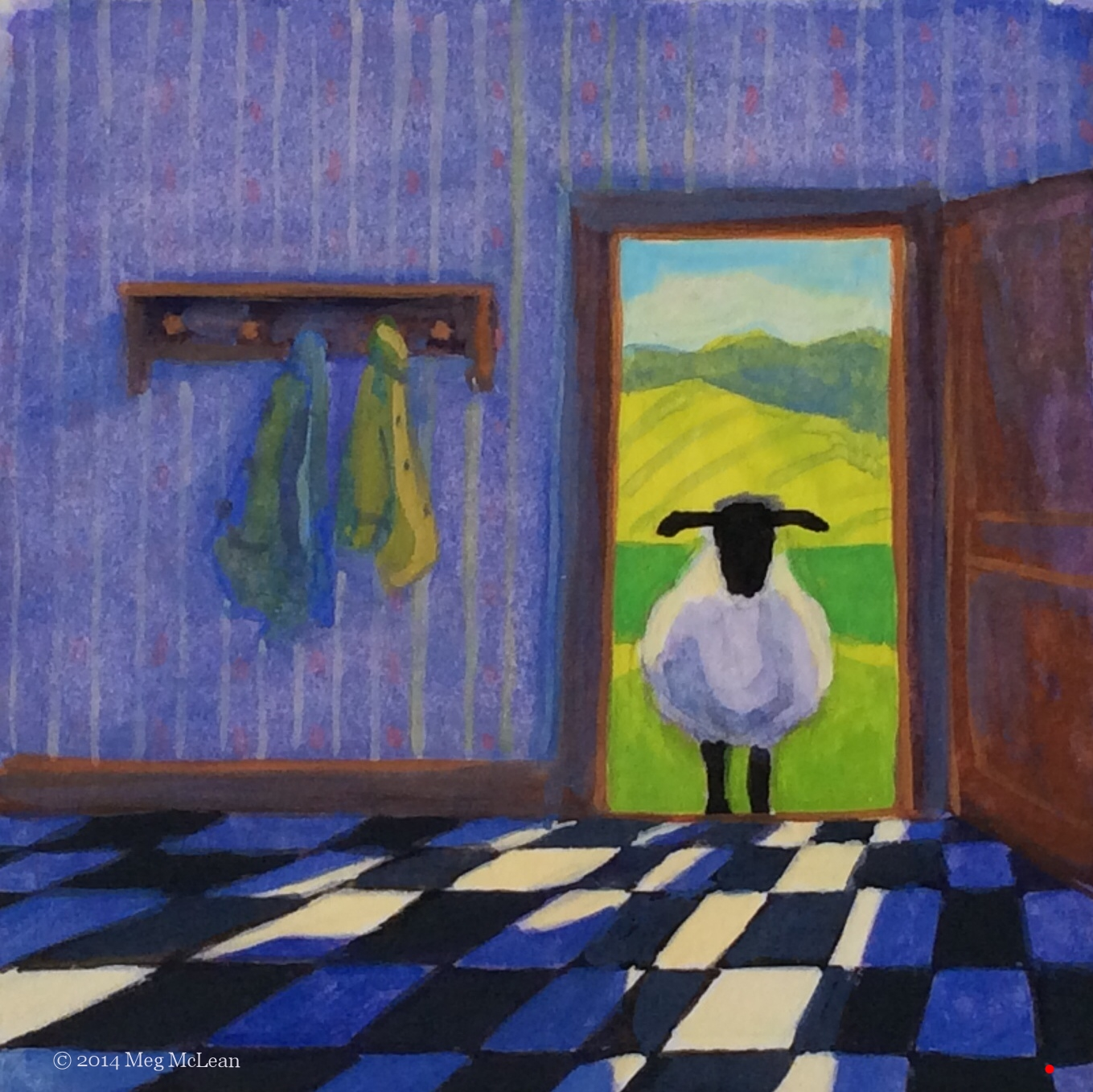 Meg McLean inside out sheep