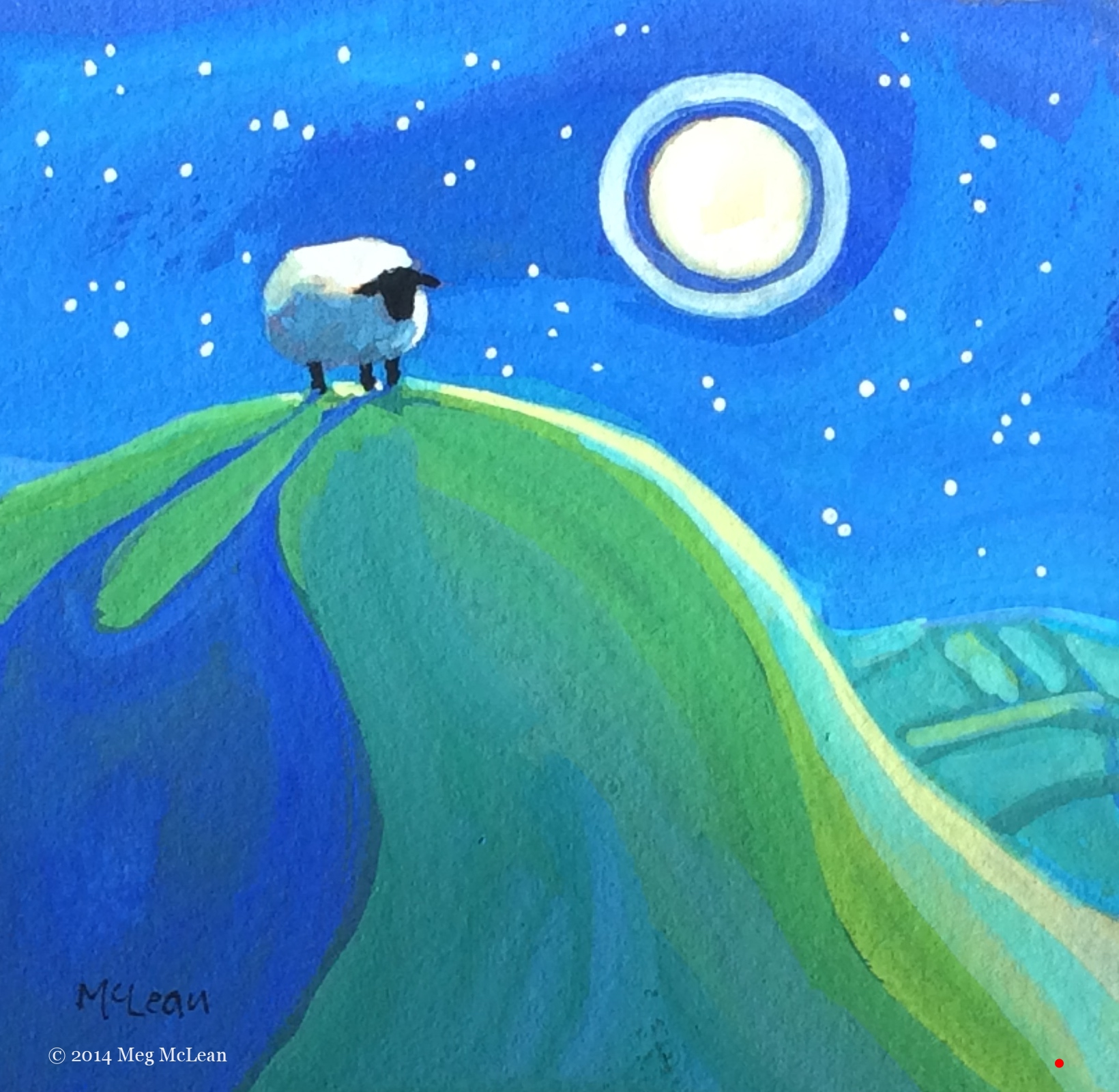 Meg McLean poetic sheep