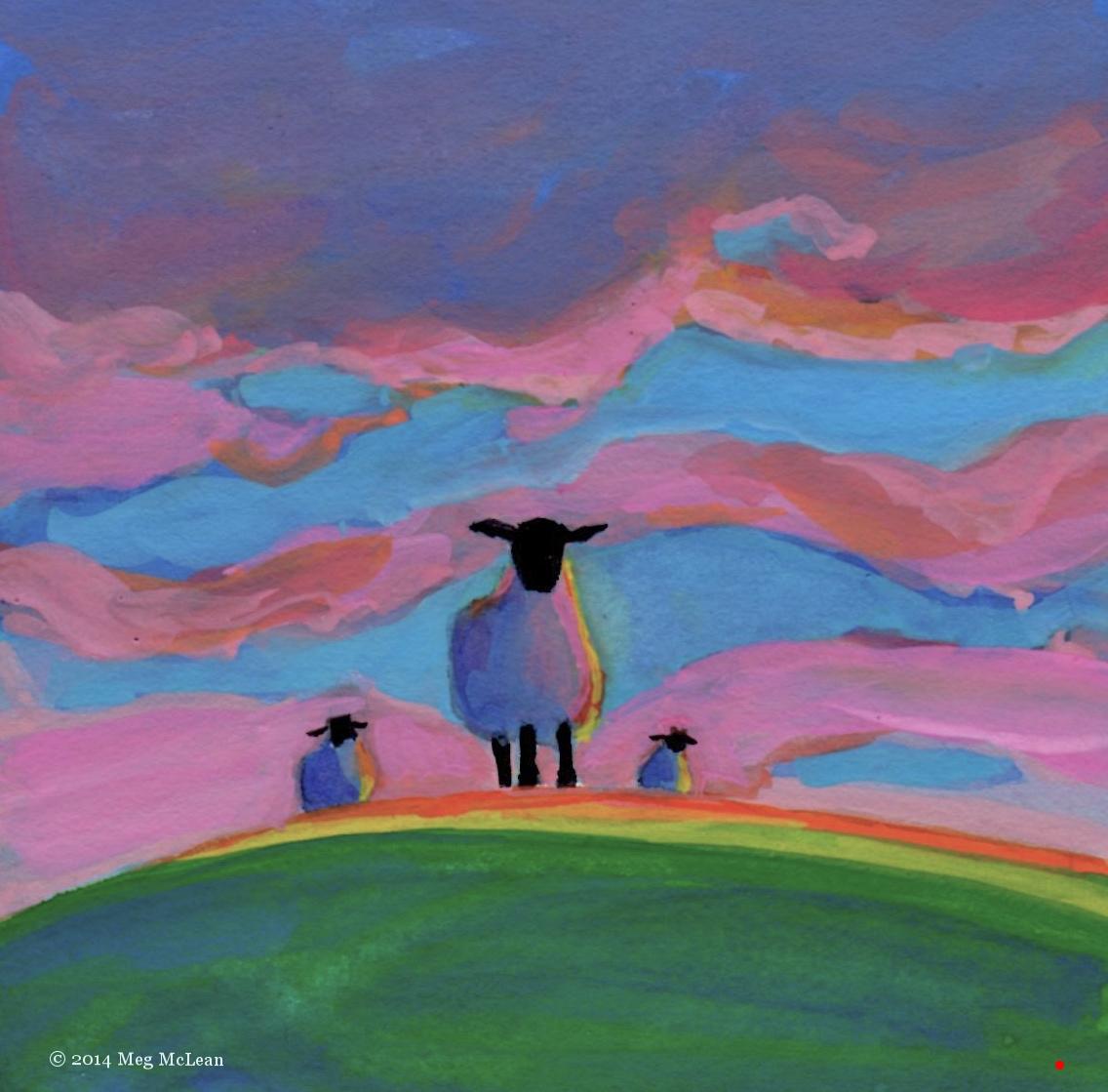 Meg McLean sunset sheep