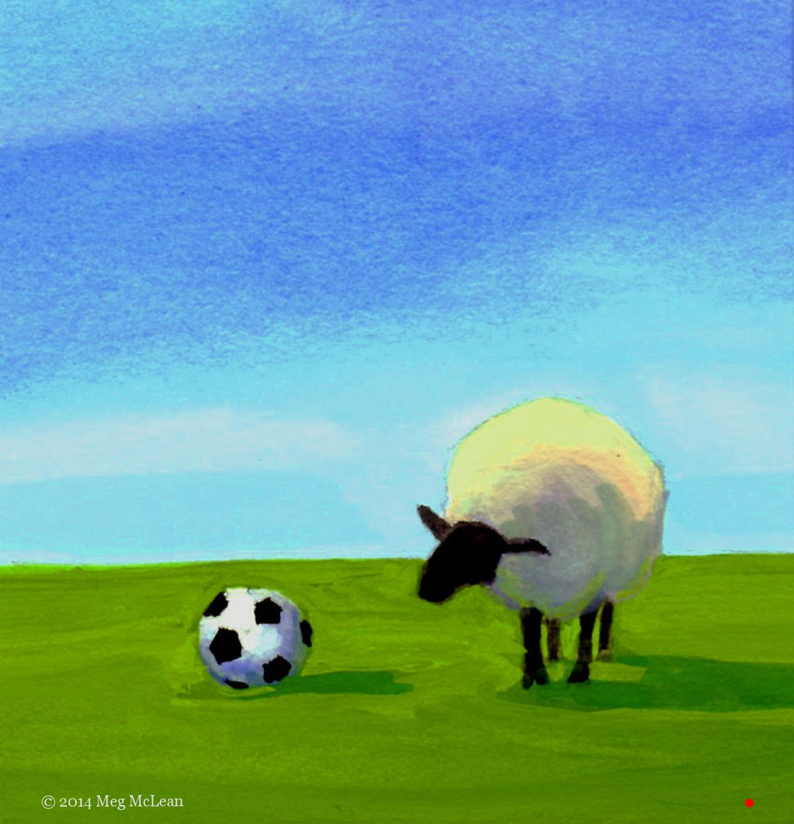 Meg McLean soccer ball sheep