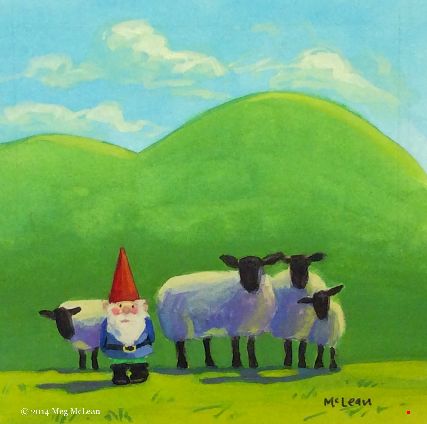 Meg McLean garden gnome sheep