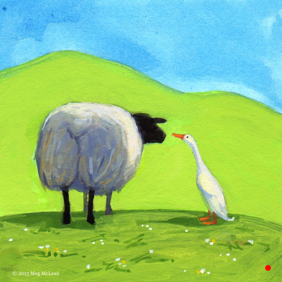 Meg McLean indian runner duck sheep