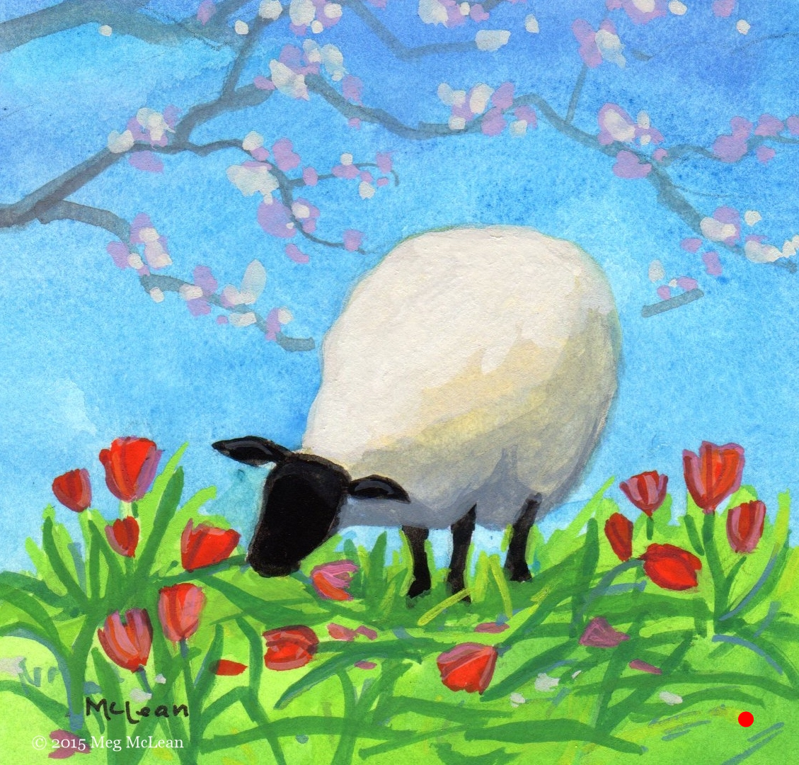 Meg McLean tulip sheep
