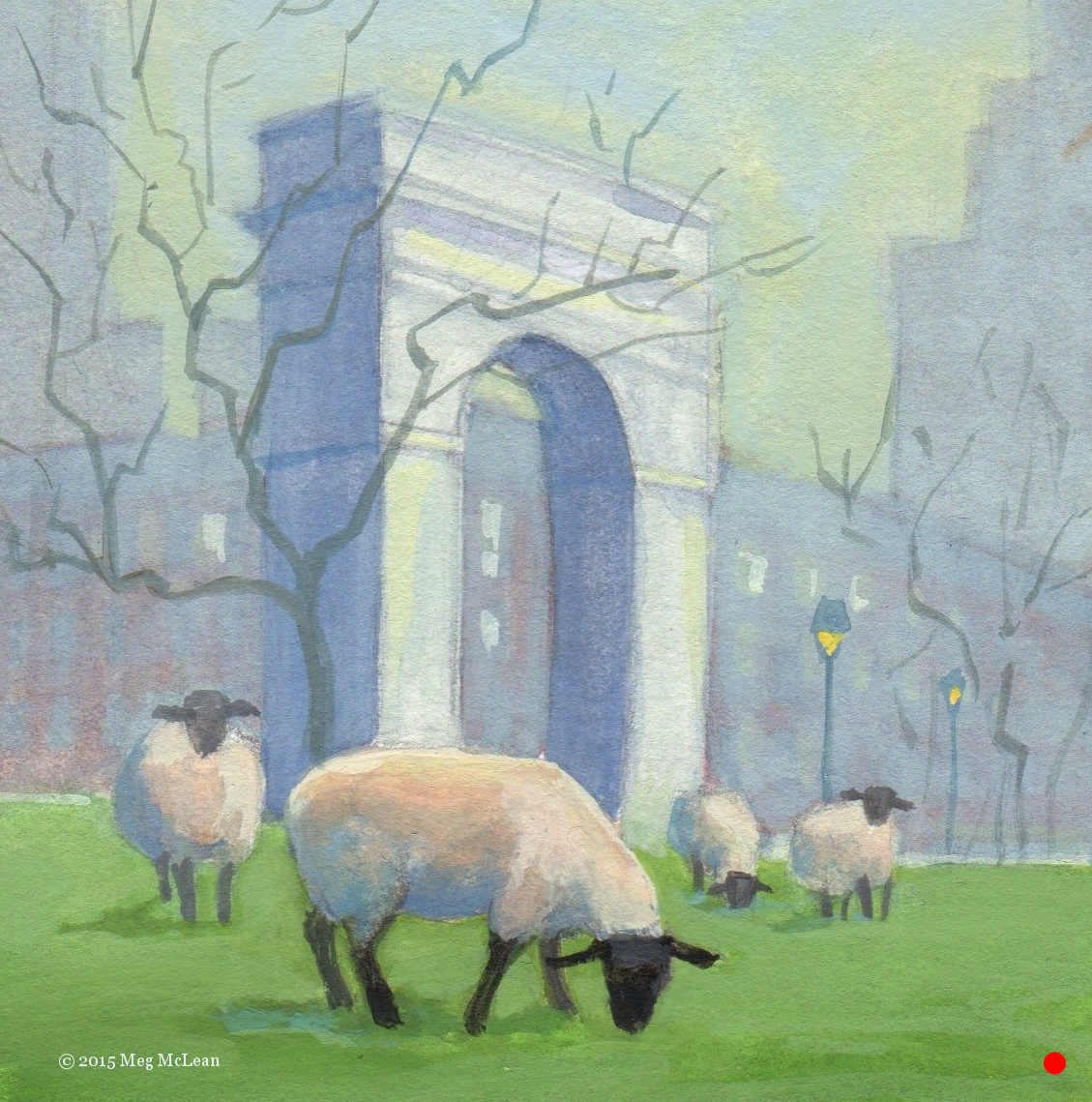 Washington Square Park Sheep