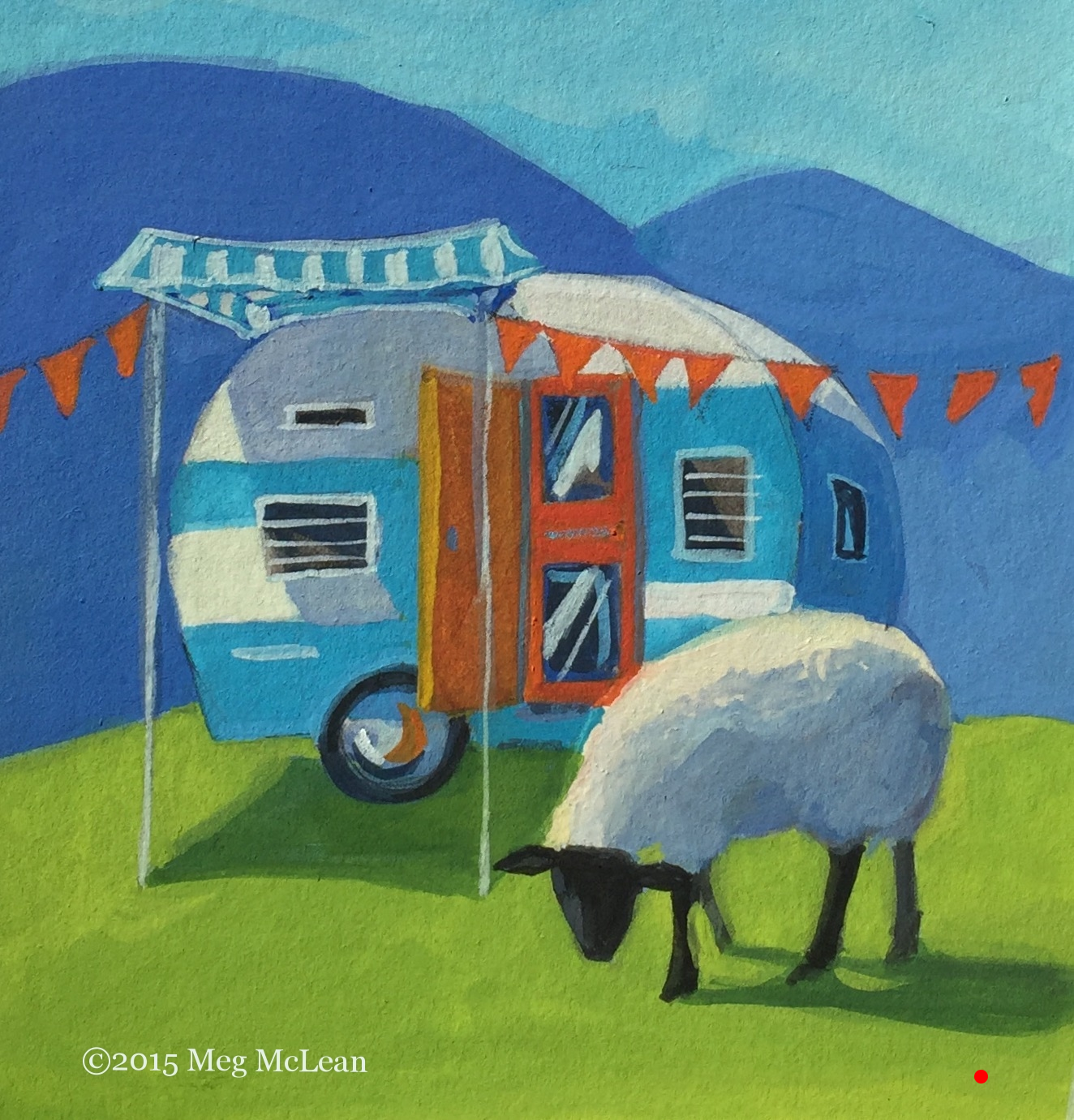 Meg McLean Camper Sheep