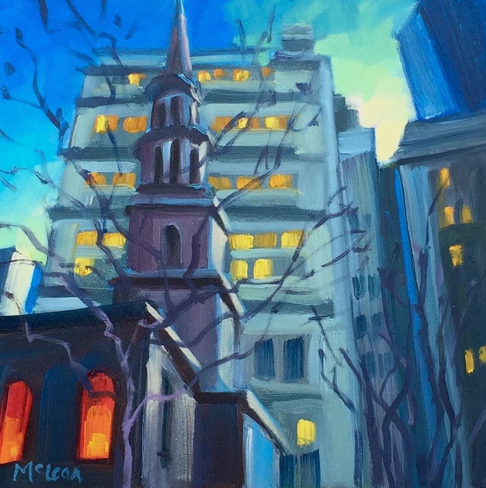 Winter Twilight, St. Paul's Chapel, New York City