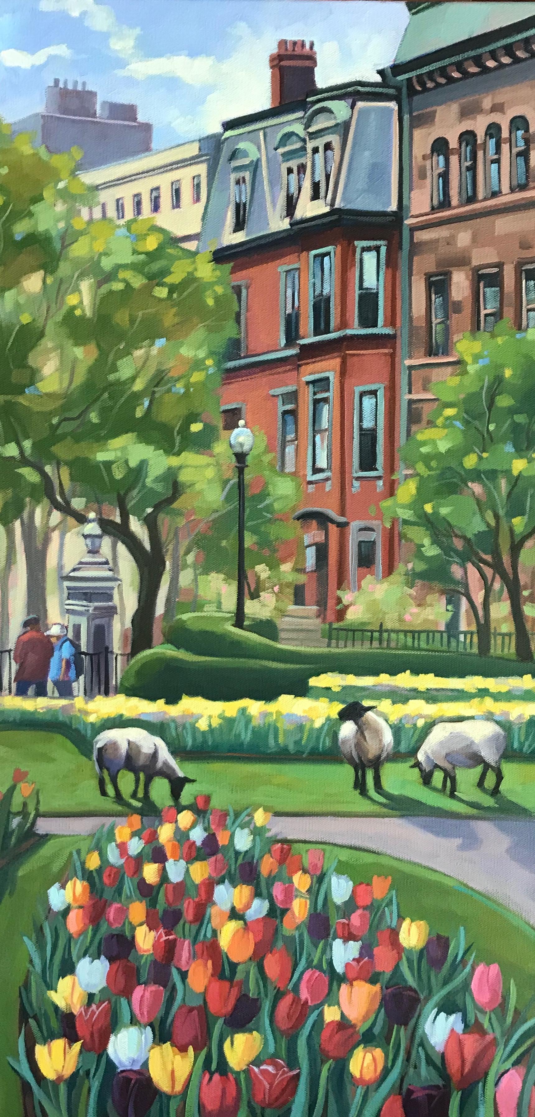 Springtime in Boston Public Garden