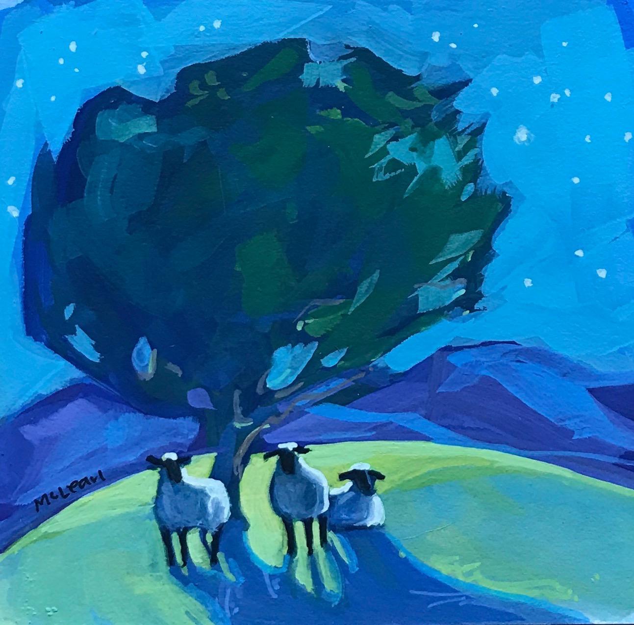 Sheep Under the Stars