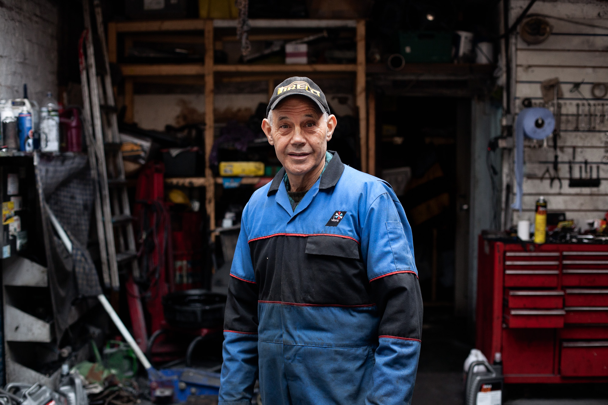 Born in Turkish Cyprus, Ibrahim Zuki has lived in north London since the early 1960's where he is working now as a car mechanic.