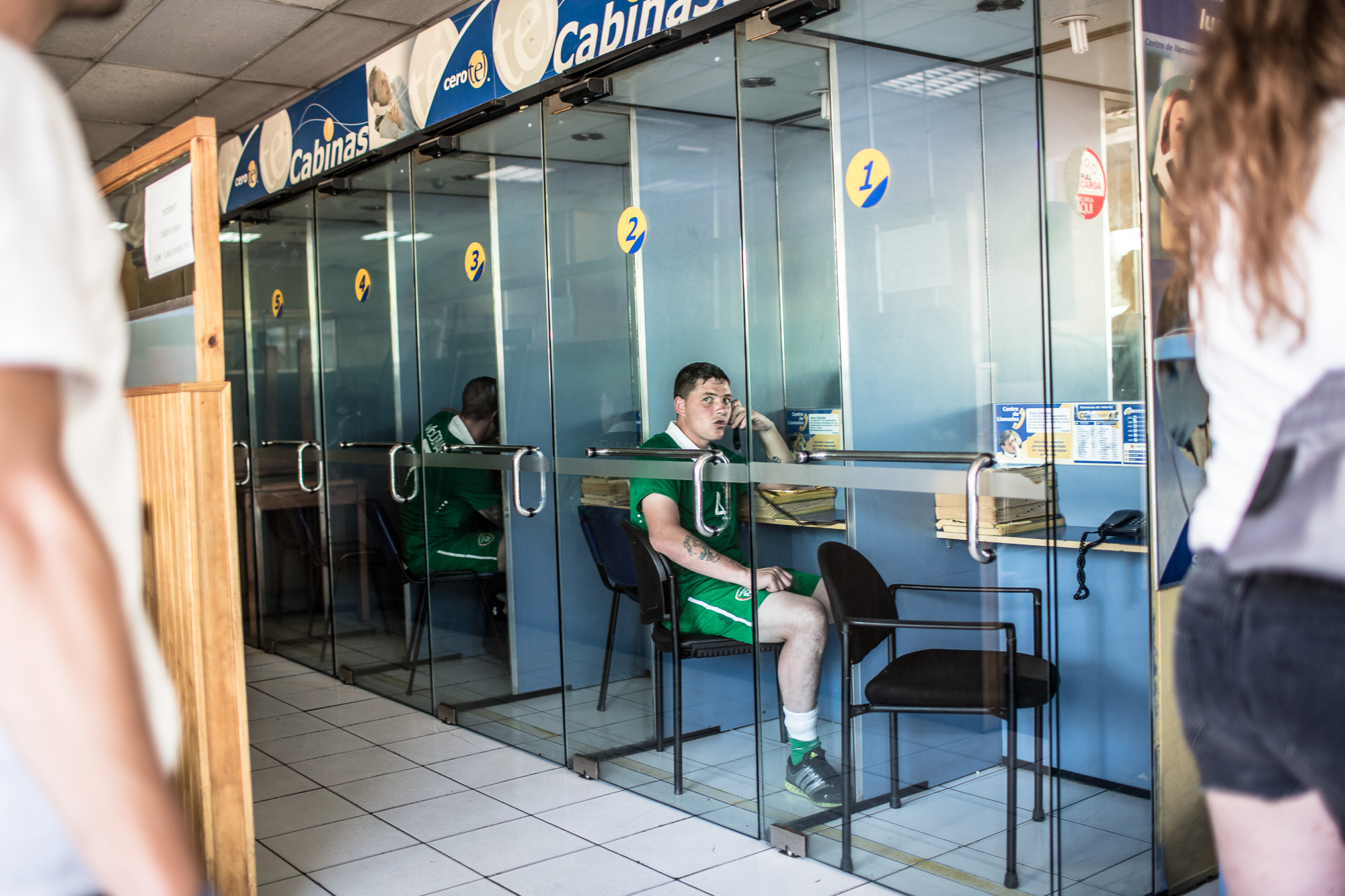 Darragh from the Republic of Ireland takes time out in the busy schedule of play to call home in a nearby café. With 350 fast paced games to get through within a week, play sometimes continues until after dark, with the teams passionately battling for points.  Unlike other tournaments, it is not a knock out competition through the group stages, meaning team have to be prepared mentally and physically to play every day.