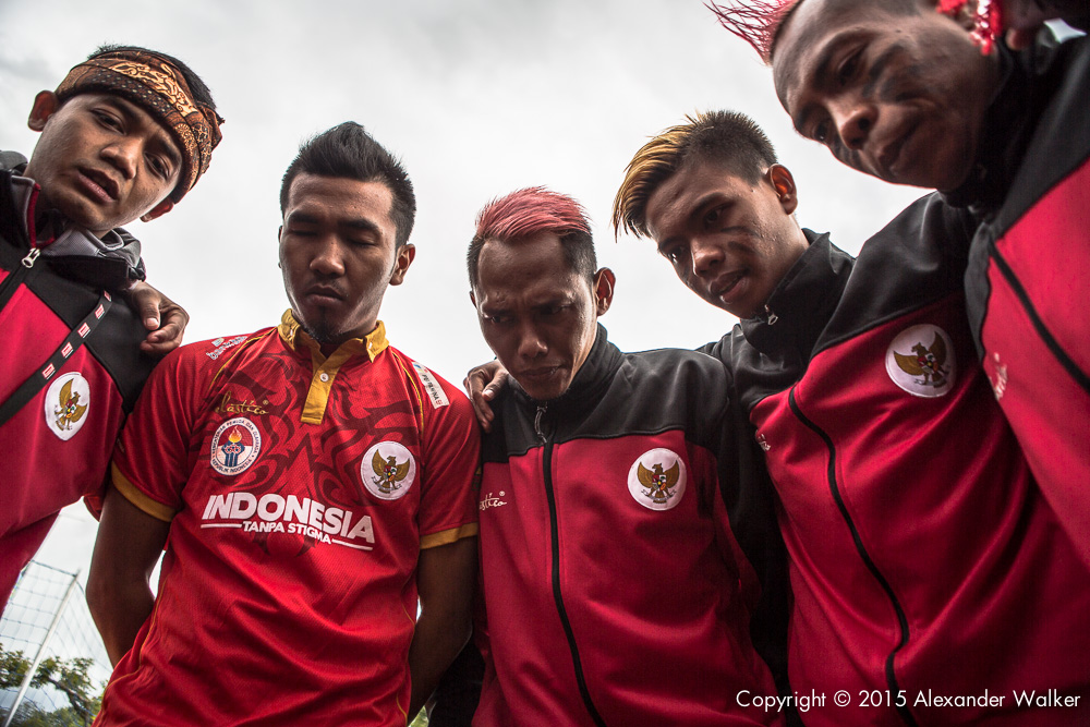 Team Indonesia at the Homelss World Cup in Amsterdam 2015
