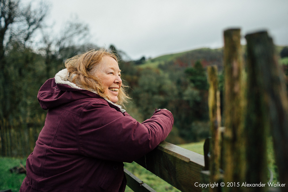 Francesca Cassini walks around Old Chapel Farm in Llanidloes.