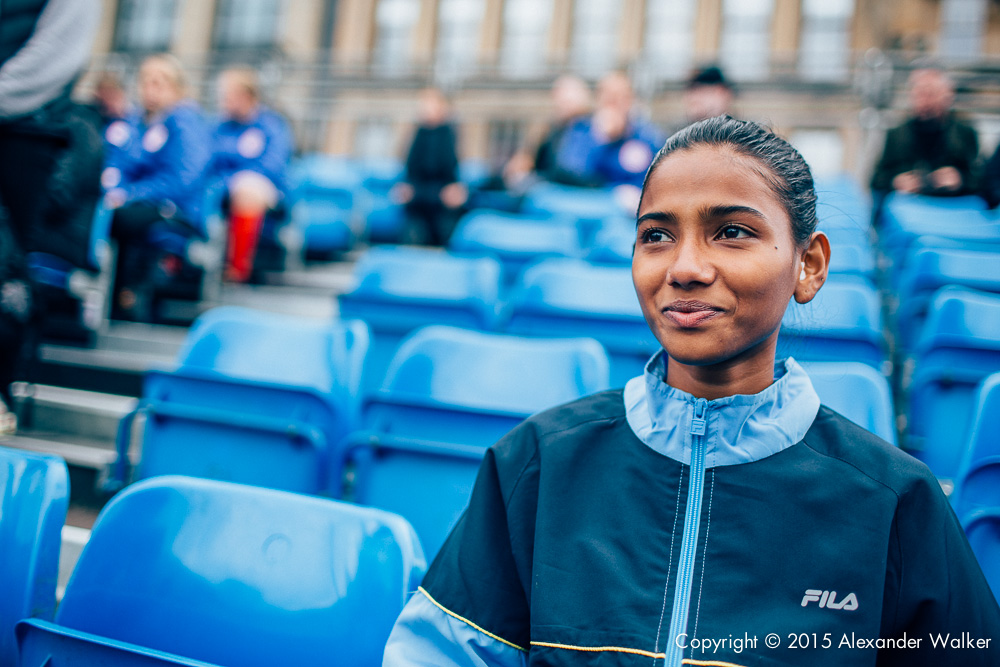 Indian Player Christina Robert Francis at the Homeless World Cup in Glasgow. The Homeless World Cup is a unique, pioneering social movement which uses football to inspire homeless people to change their own lives. Homeless World Cup 2016 is taking place in Glasgow's George Square from July 10th to July 16th. For more information, visit www.homelessworldcup.com