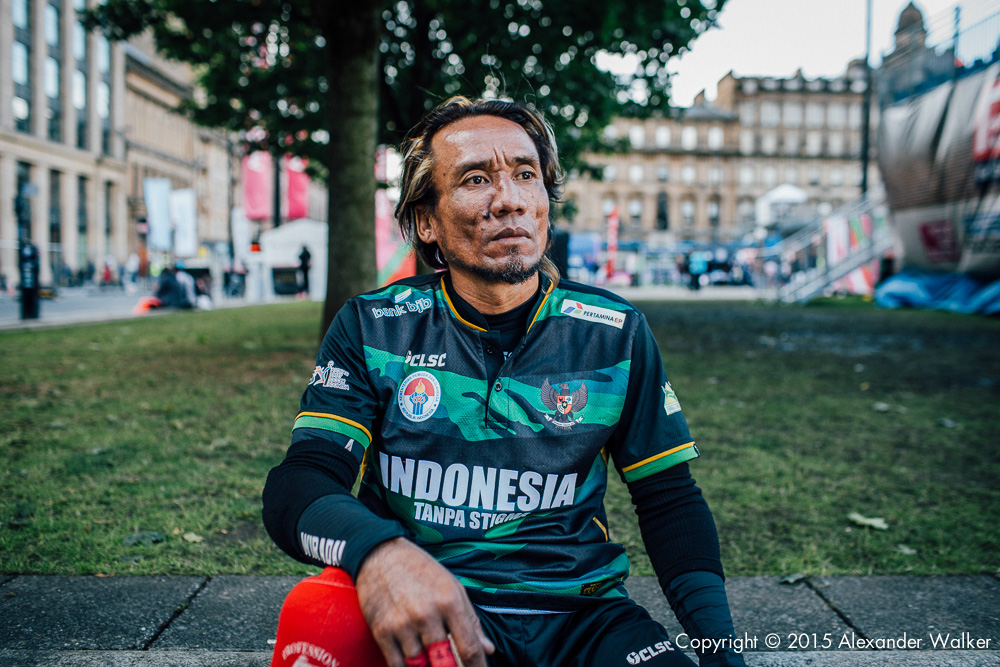 Wira Dana from Team Indonesia The Homeless World Cup is a unique, pioneering social movement which uses football to inspire homeless people to change their own lives. Homeless World Cup 2016 is taking place in Glasgow's George Square from July 10th to July 16th. For more information, visit www.homelessworldcup.com