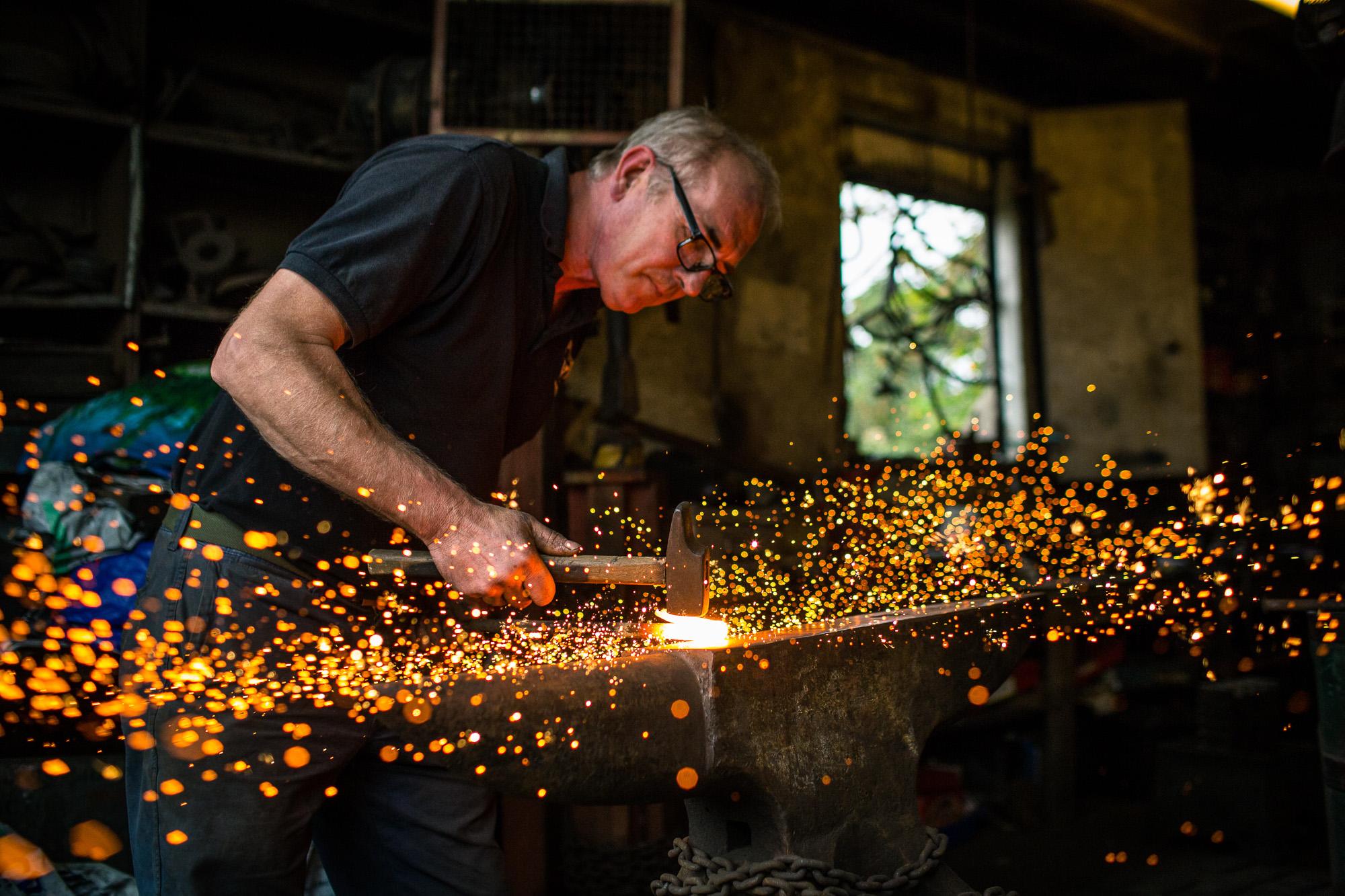 Positive News - Surrey Docks Farm Blacksmith