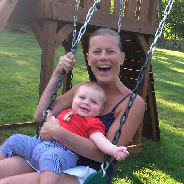 Swinging into Fall soon. Can't believe it's already getting so chilly in the morning, but early Fall is some of the best weather here! #parkerb #smile #happy #ldw #happylaborday #6monthsold