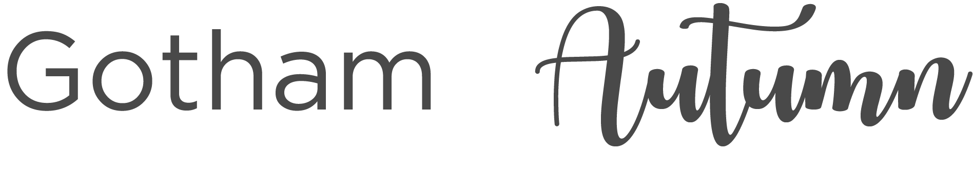An example of a text font - Gotham - versus a display font - Autumn. While display fonts can add visual impact, depending on their design they can impact legibility.