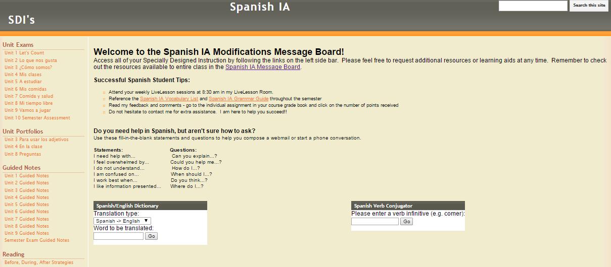 modification message board
