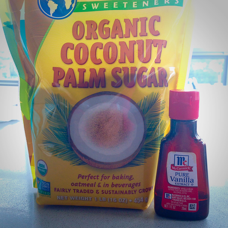 the enhancers: coconut sugar and vanilla