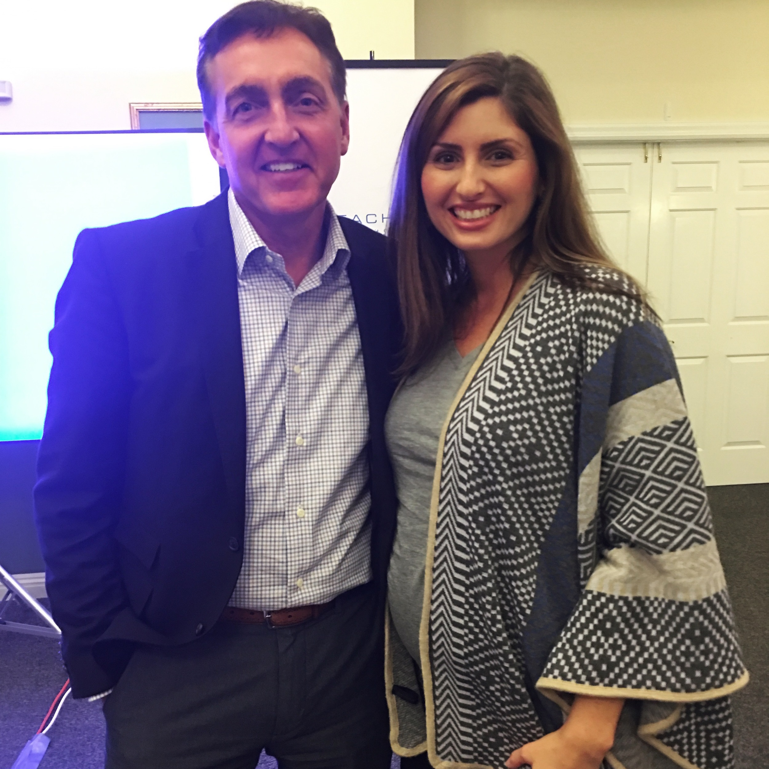 attended an exclusive training with the executive vice president of global sales