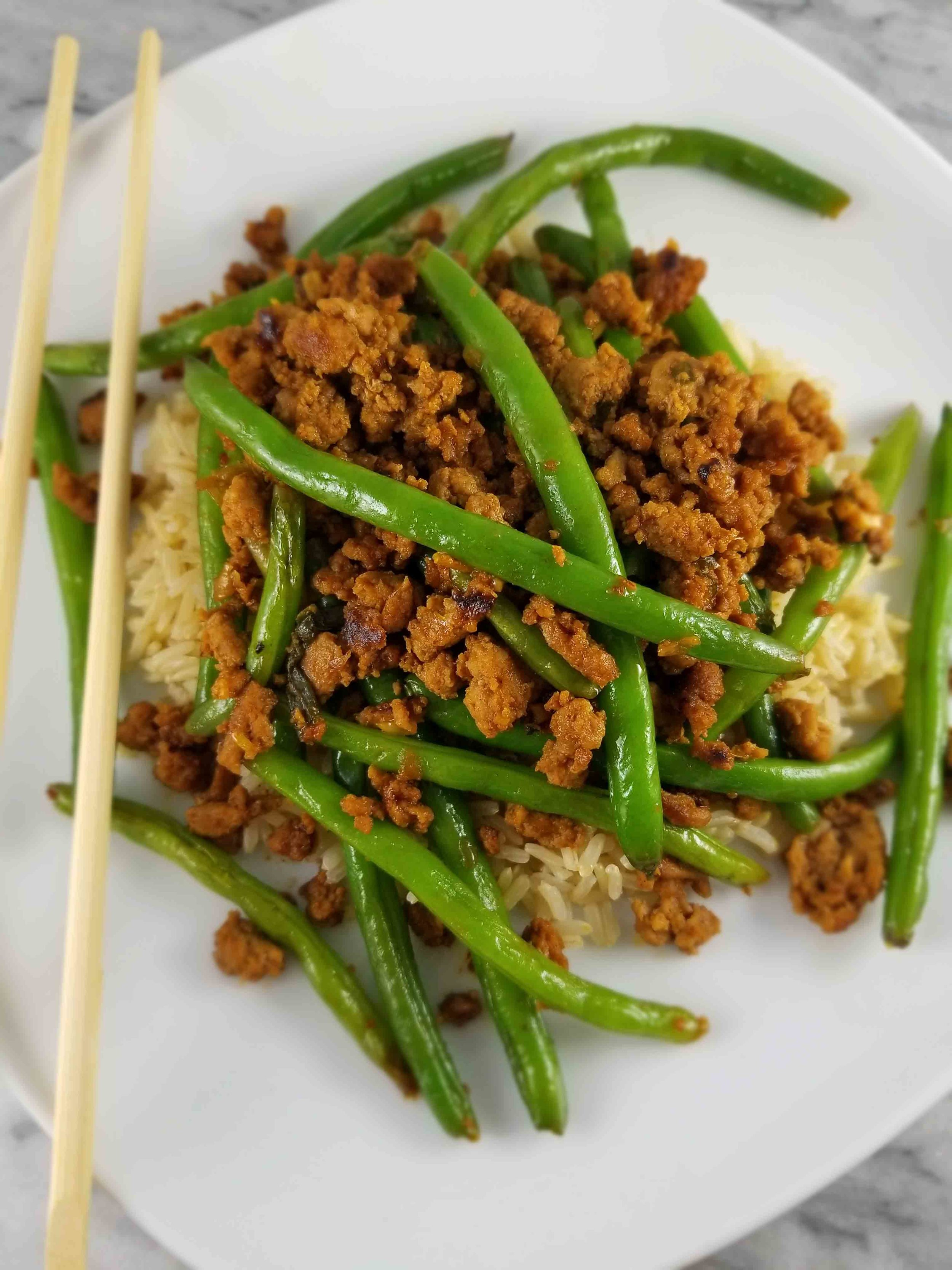 Asian Green Beans And Ground Turkey Ashly Locklin