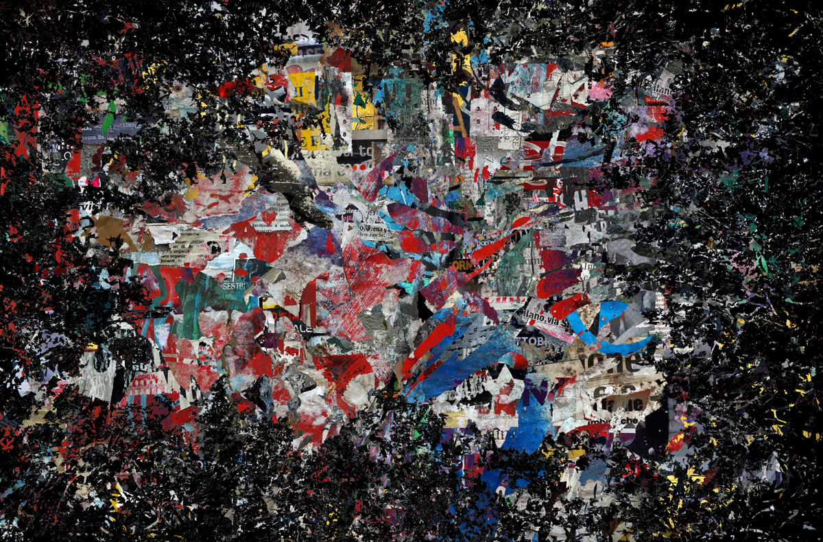 """Living in a civilized world"" - 100 cm x 150 cm"