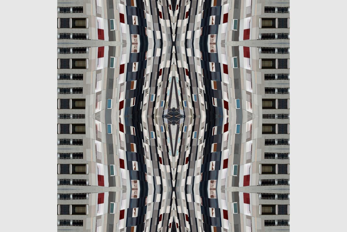 """Distorted reality"" - 80 cm x 80 cm"