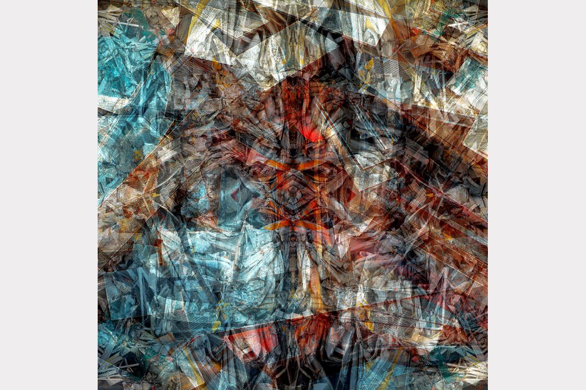 """""""Crooked cross"""" - 100 cm x 100 cm"""