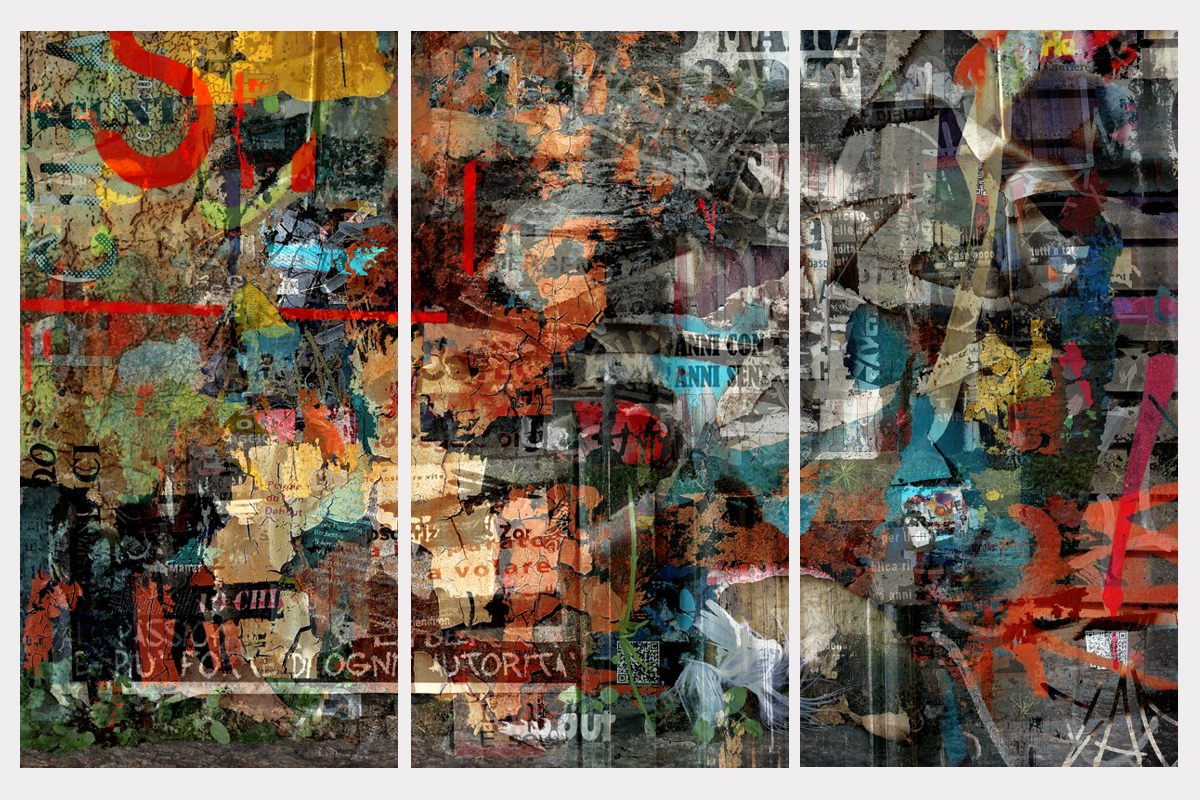 """Back from Paradise"" - triptych - 105 cm x 162 cm"