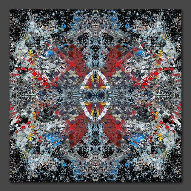 """Birth of a new destiny"" - 100 cm x 100 cm - carbon inkjet print on cotton paper."