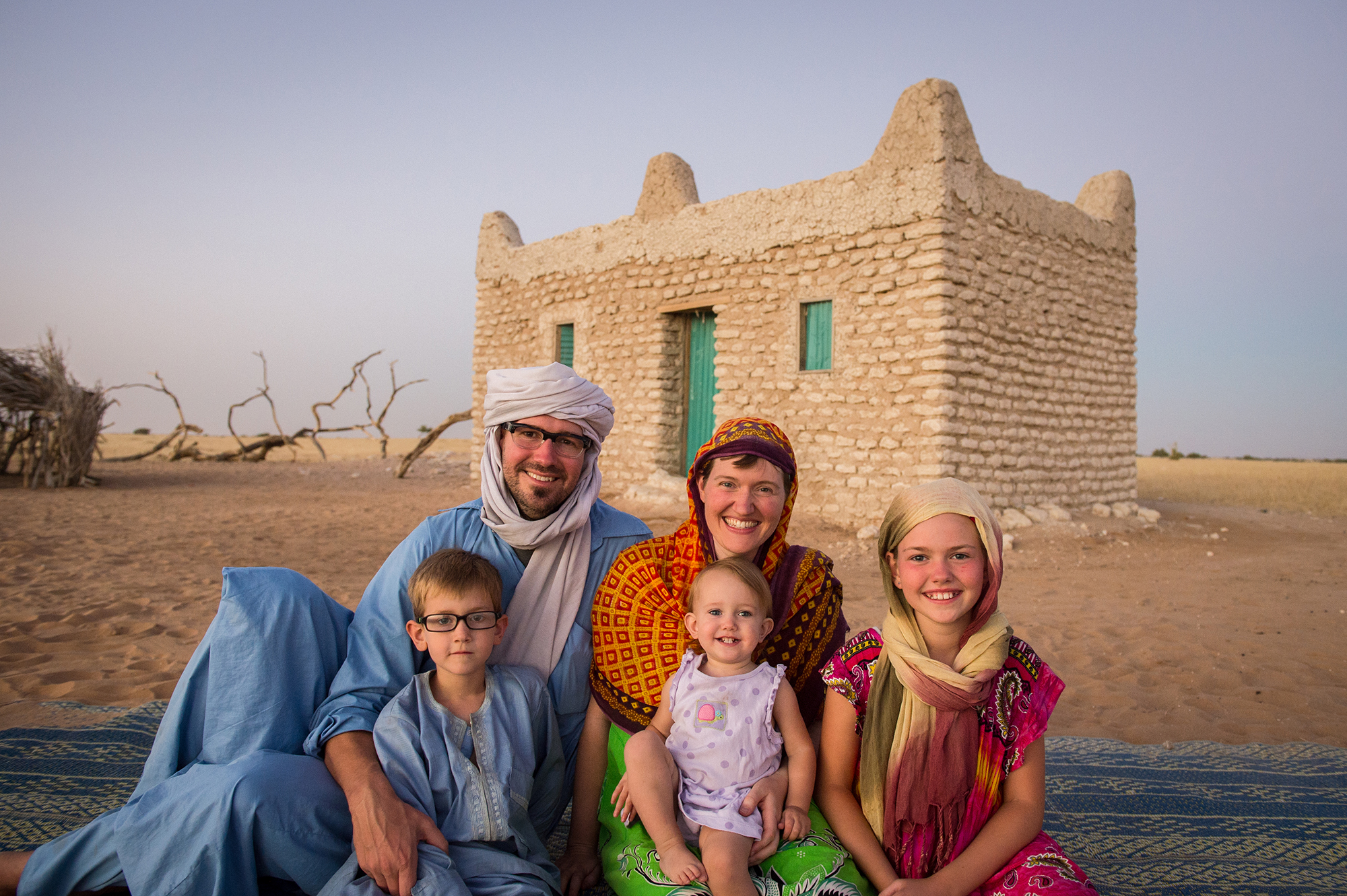 My family and I spent the month of December in Chad working on creating children's books to help a nomadic desert tribe learn to read and write in their language. While we were in the village, 12 hours north of the capital city, N'Djamena, we stayed in this one-room mud brick home. It was a wonderful experience for our family.