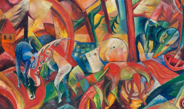 "Beltracchi forgery - ""Rotes Bild mit Pferden"" which sold for €2.88 million. An article on this painting can be read  here ."