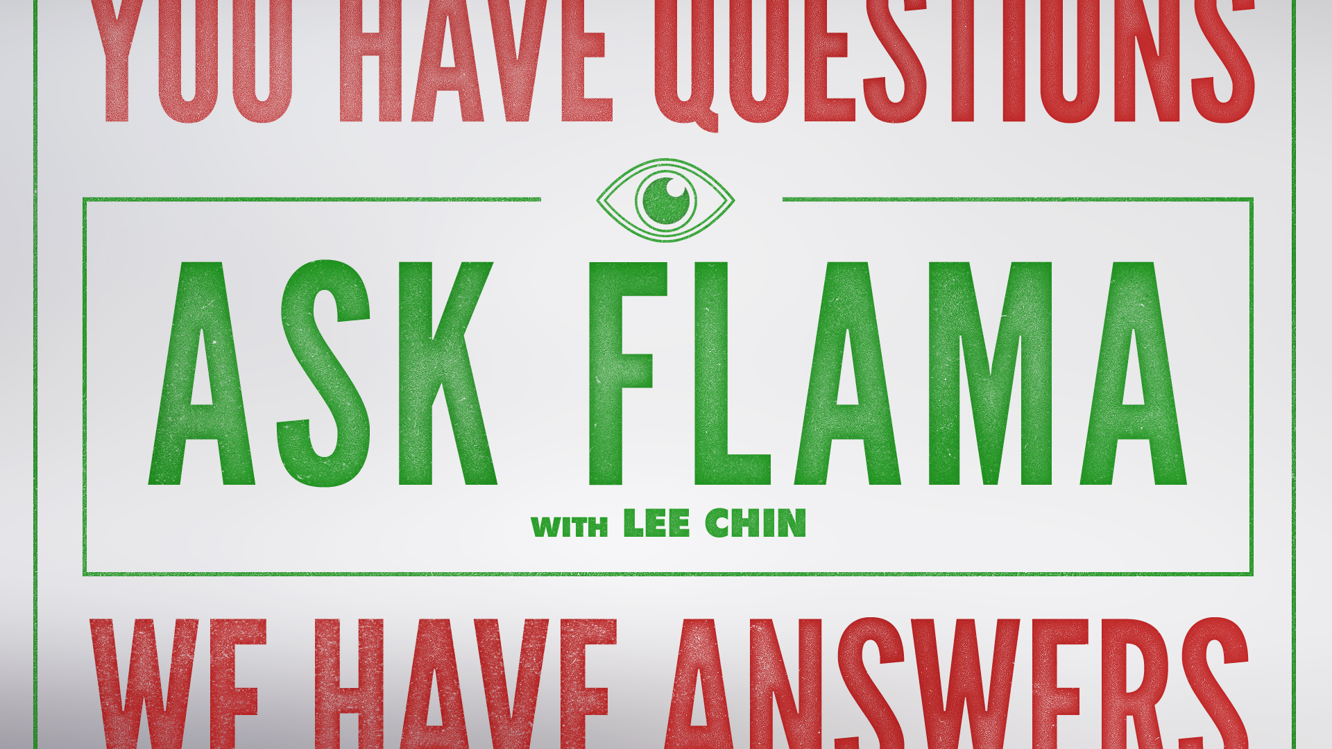 Ask Flama  On-screen graphics package and set design for comedy web series. Included show titles, lower third, set design/build, and over-the-shoulder image containers.