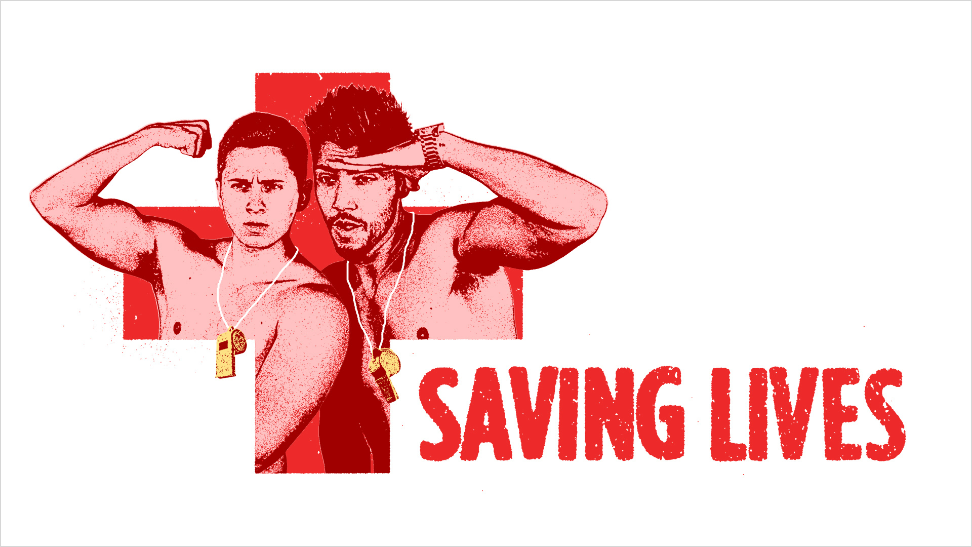 Saving Lives  Identity and title sequence for comedic web series about life guards.