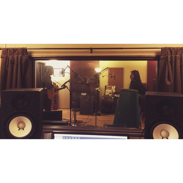 Tracking at LaLuna Recording and Sound.