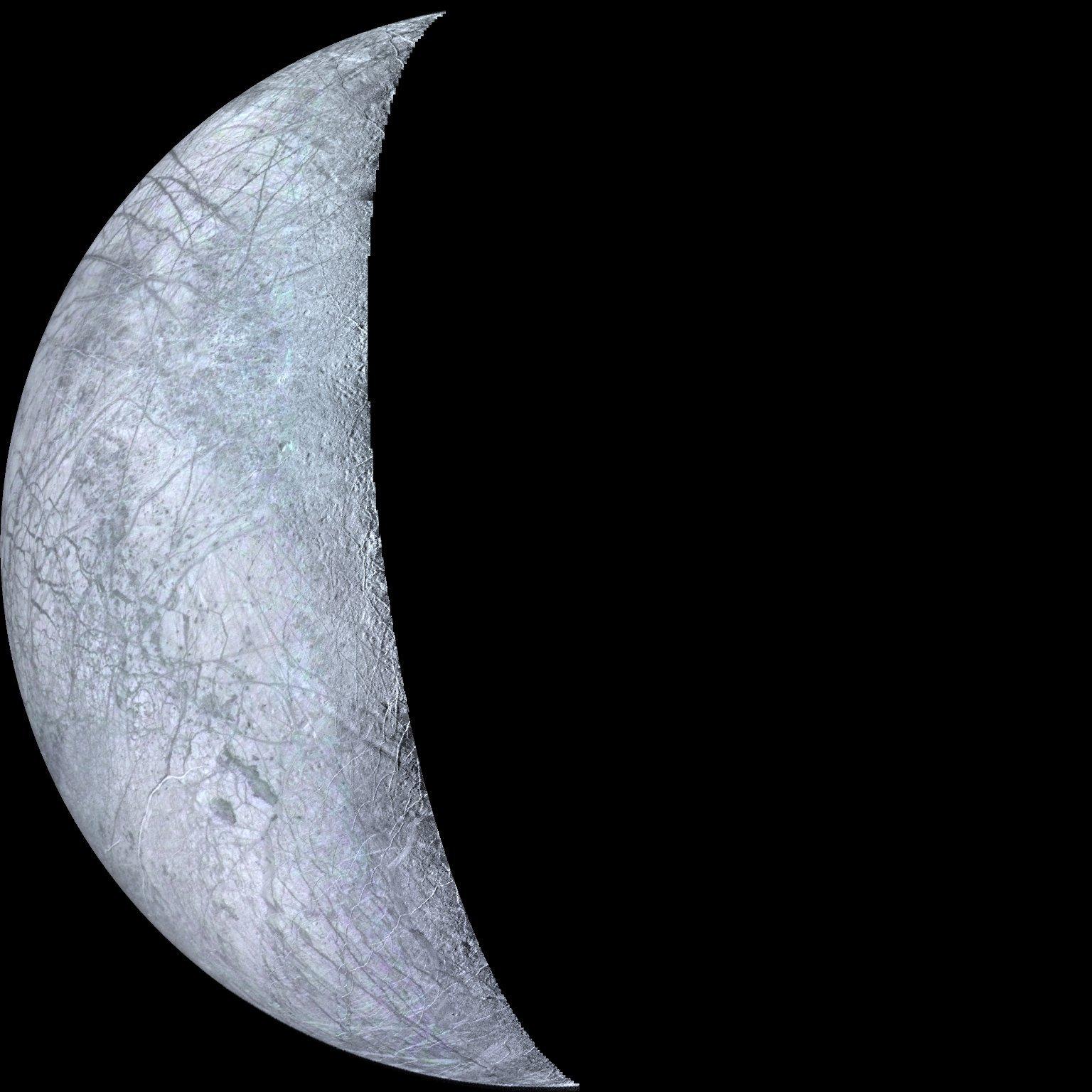 Cresent Europa | Image Credit:  NASA