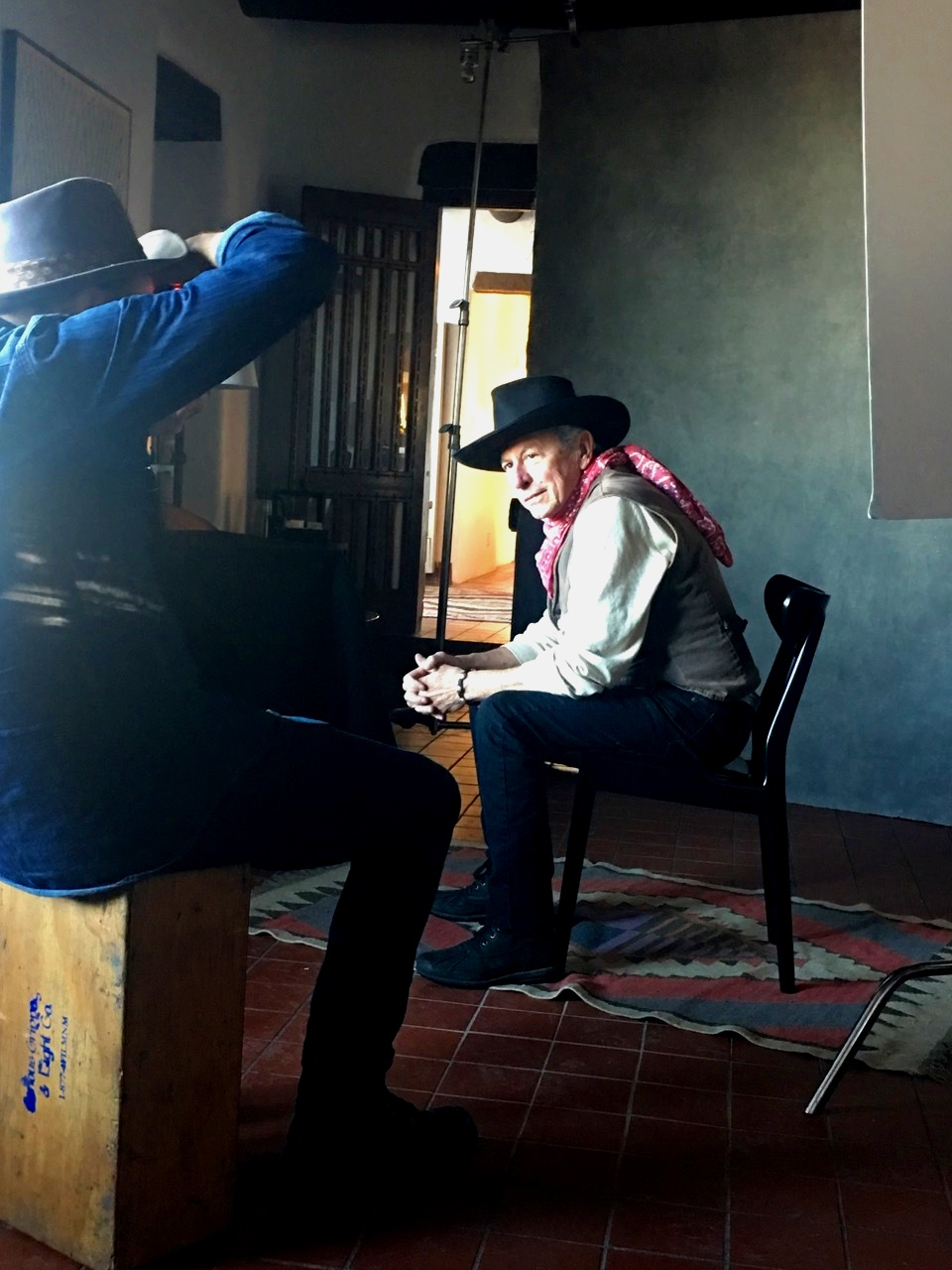 Danny Clinch and Joe Ely, El Rey Hotel, Santa Fe, NM 2019