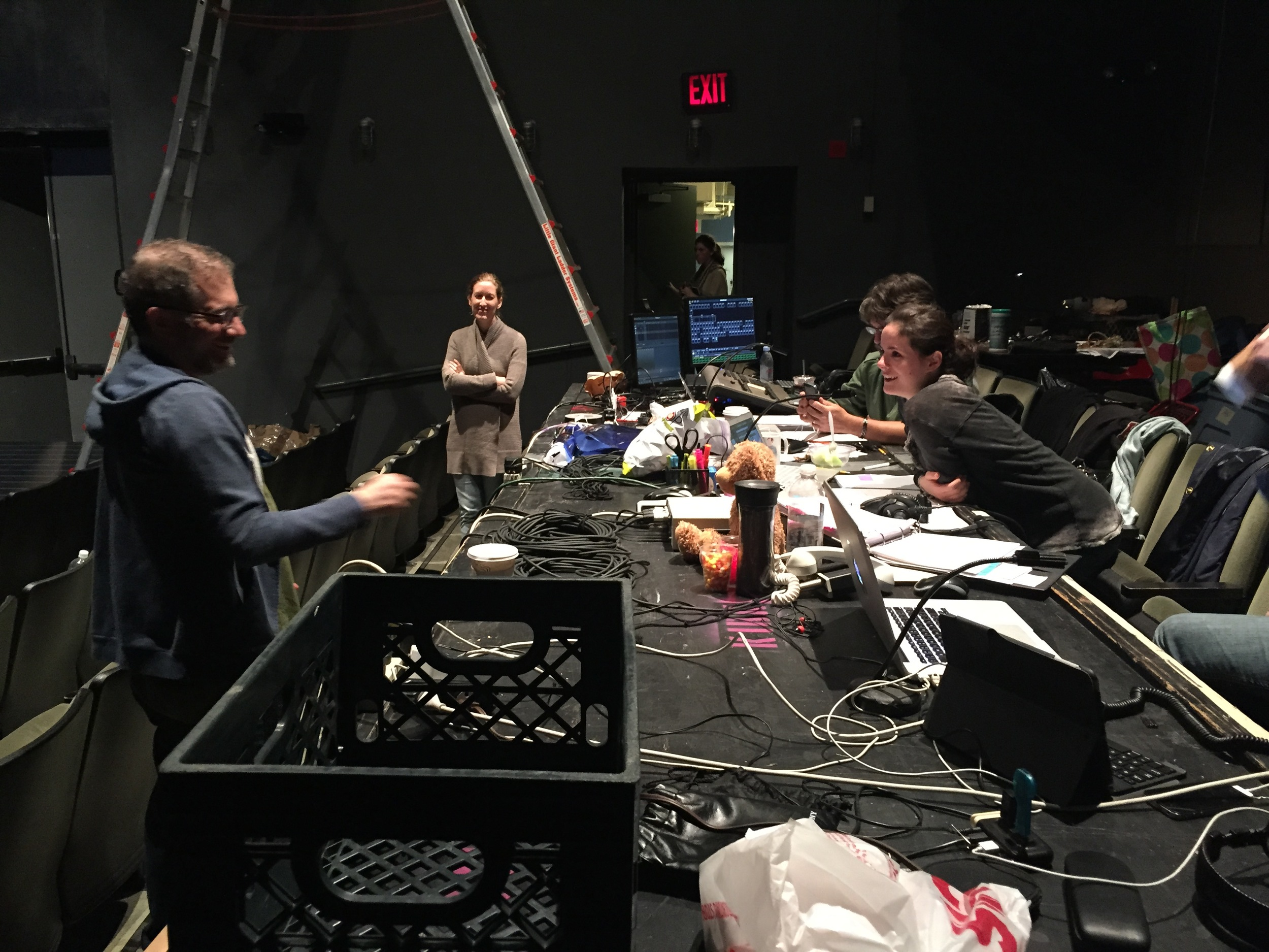 The designers table used for tech rehearsals