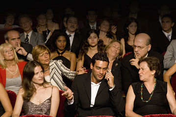 Don't be that guy on your phone in the theatre.
