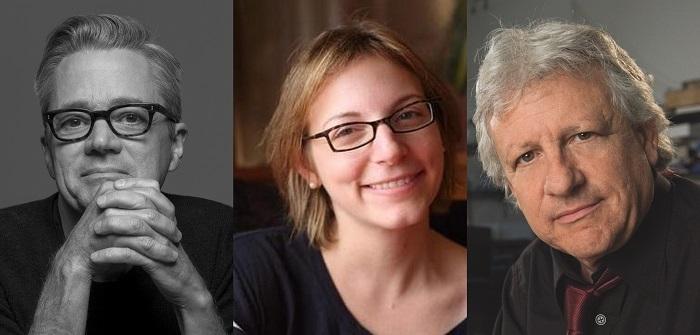 From left, Ken Corbett, Anna Ziegler, Stuart Firestein