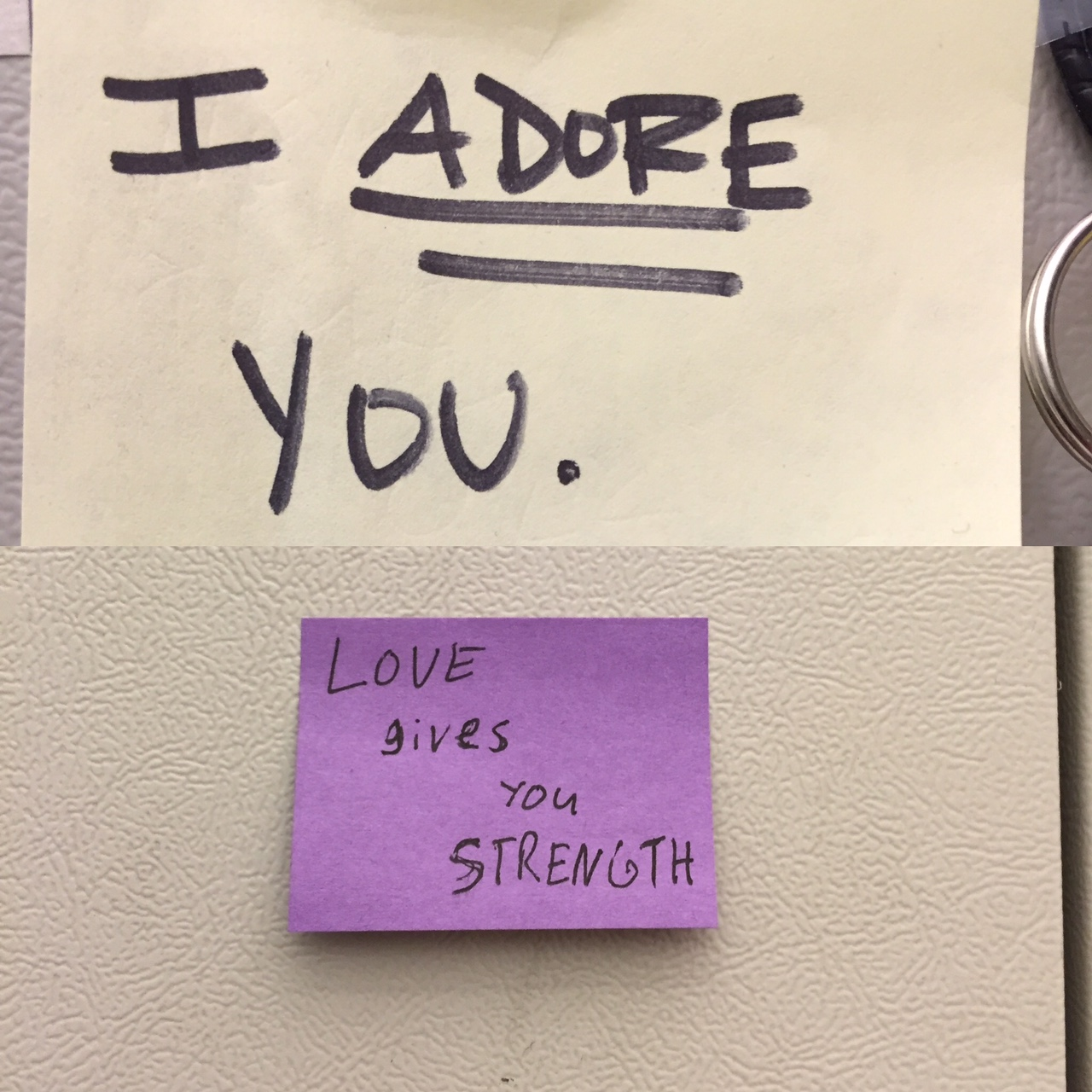 Post-It notes we leave each other in the office