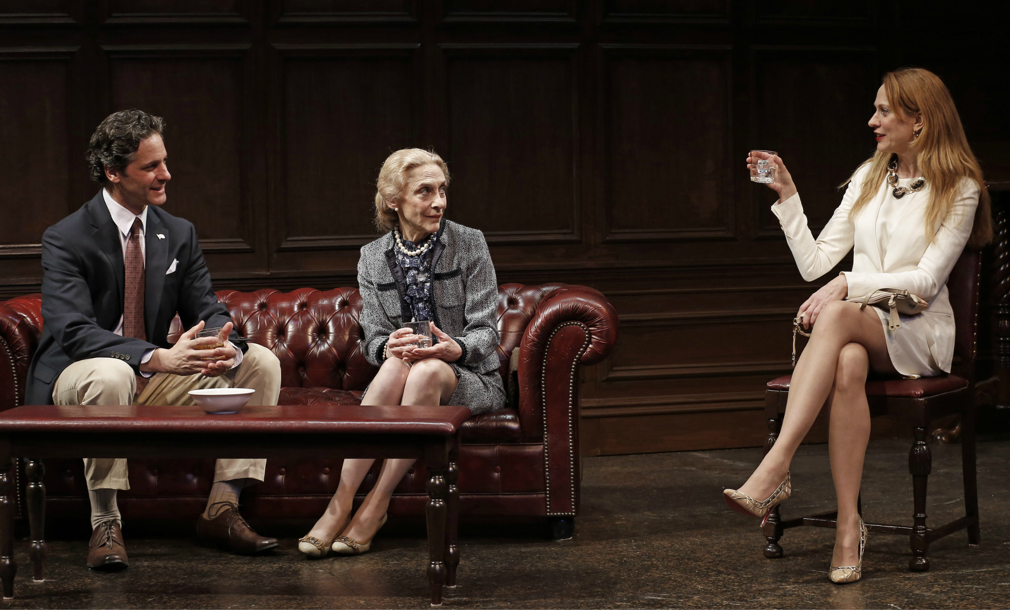 Peter Rini, Laura Esterman, and Marsha Dietlein Bennett in The Old Boy 2013 Photo: Carol Rosegg