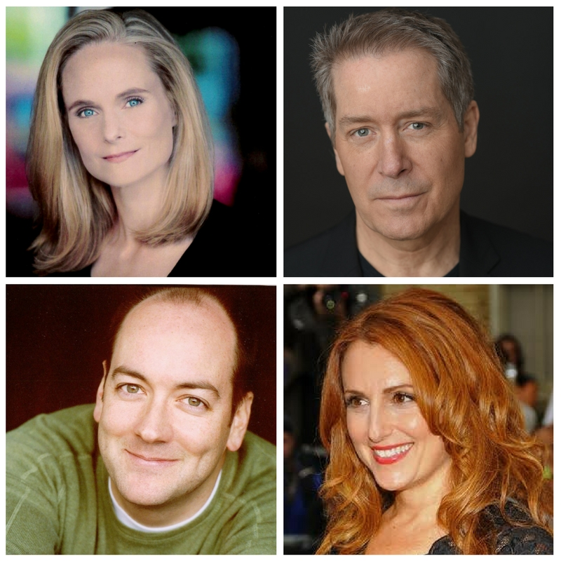 The cast of Later Life. Top: Barbara Garrick, Laurence Lau. Bottom: Liam Craig, Jodie Markell