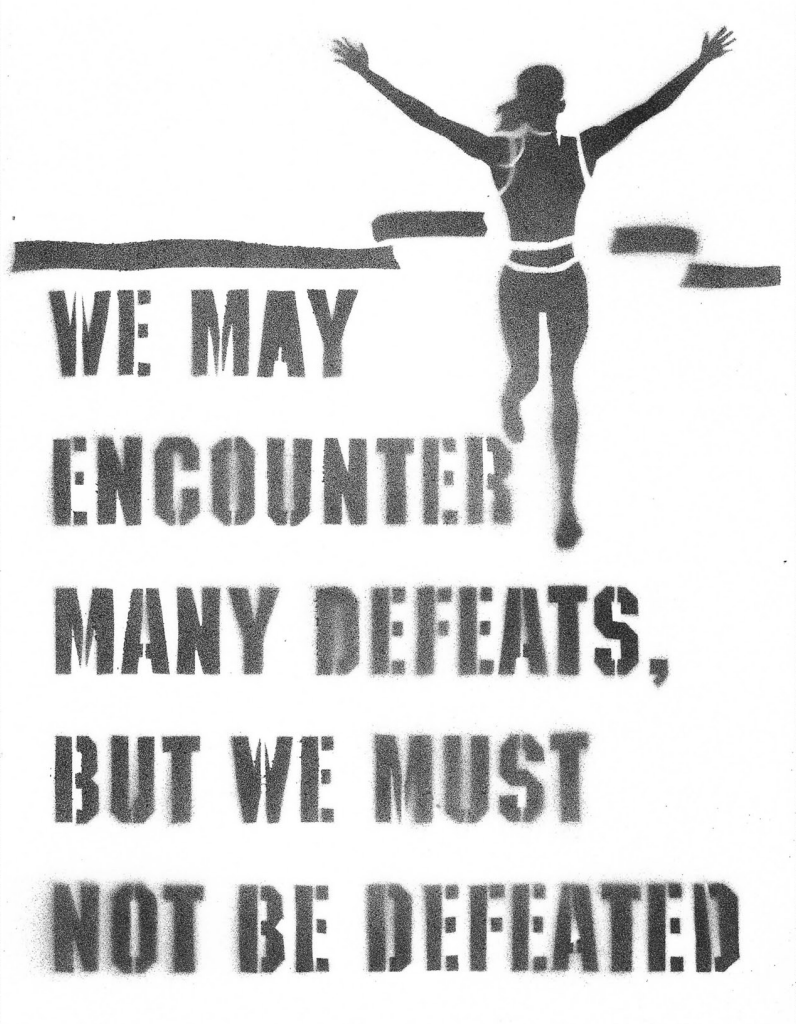 """DEFEAT"" - I was on the cross country team in high school…so, I FEEL this girl!"