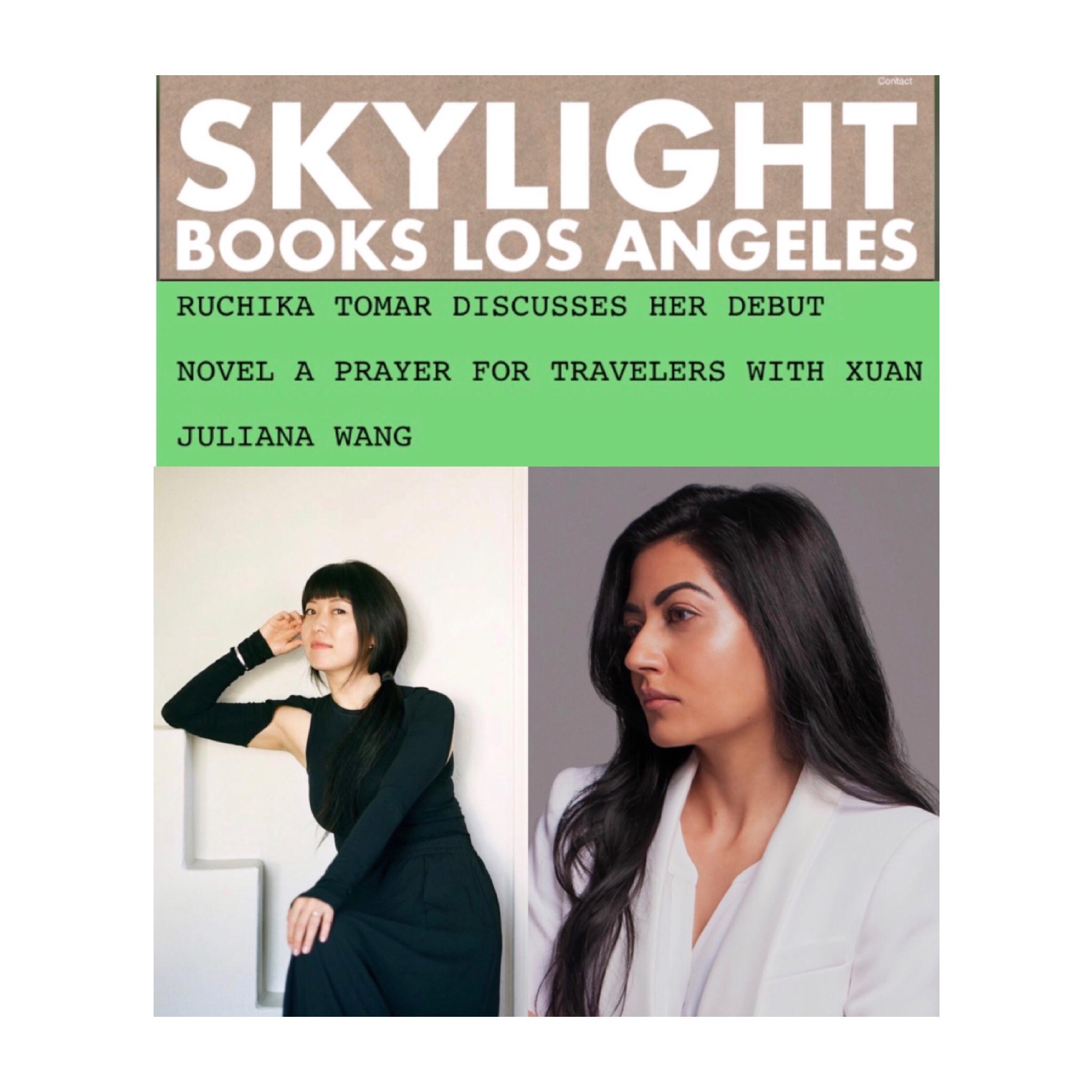 Ruchika Tomar and Xuan Juliana Wang in conversation at Skylight Books.