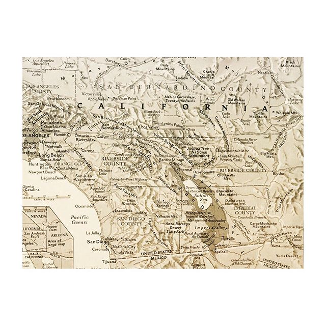 "1. Map of the West, 1957  2. ""Calico Fred"" Noller, peace officer, Mojave Desert, 1957  3. Harry Oliver, editor of Desert Rat Scrapbook, Thousand Palms, 1957 #calnev #oldwest #aprayerfortravelers #desertpeople"