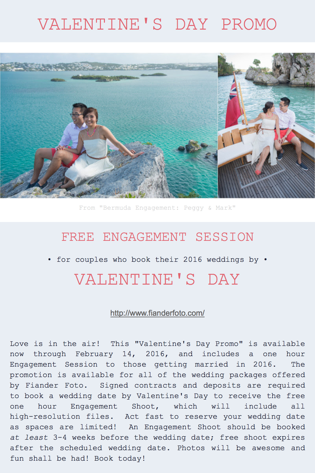 Valentine's Day Promo Bermuda Weddings