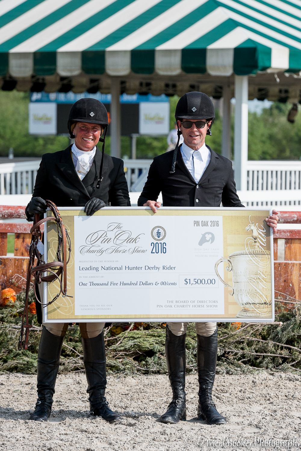 Jennifer Alfano and Peter Pletcher shared the Leading Rider title at Pin Oak earlier this year.