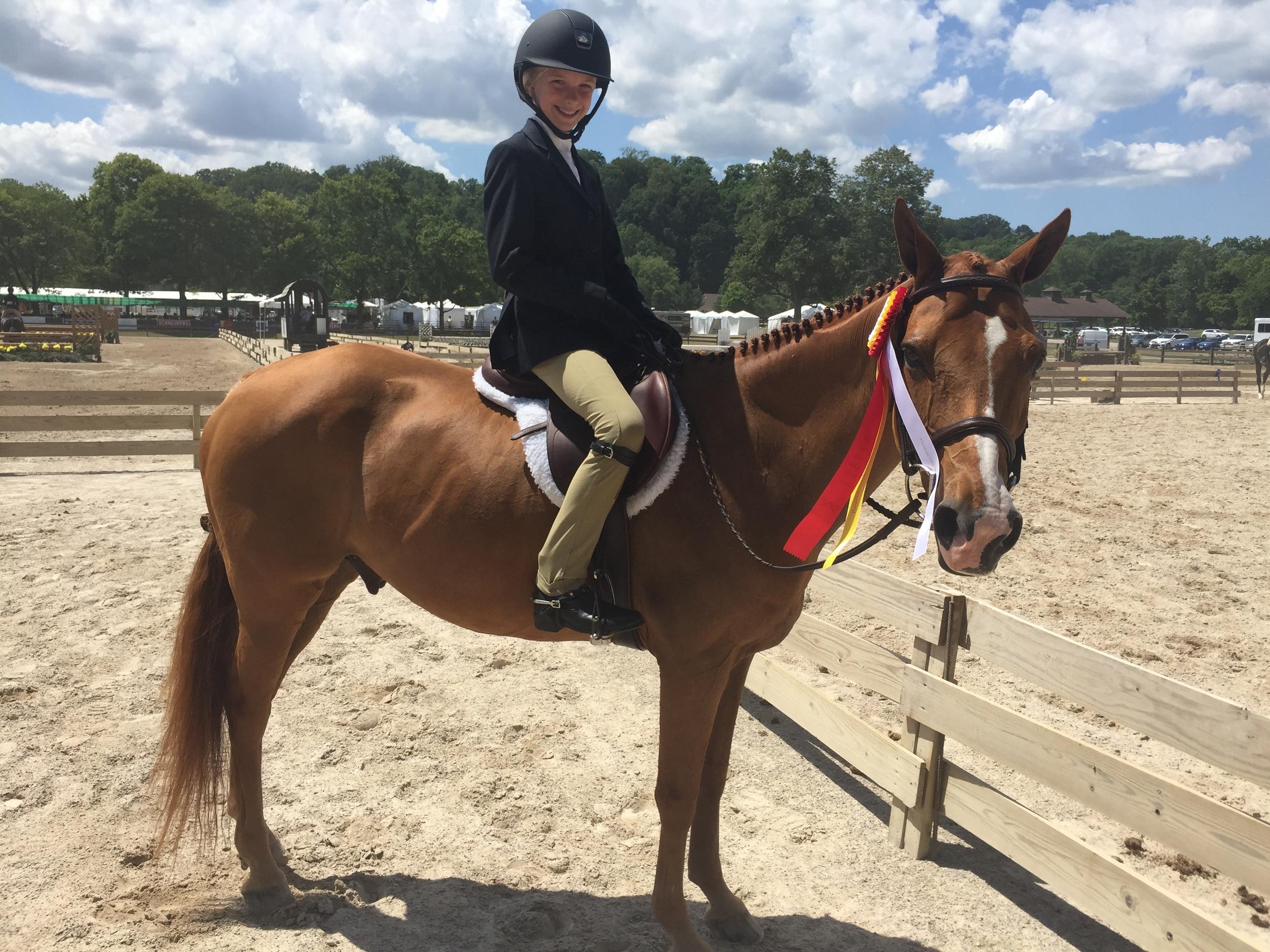 Zoe Schabb and Lucky Charm